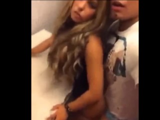 Fucking Hot Drunk Latino Girlfriend At The Club's Bathroom